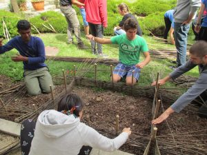 """""""Le jardin recyclé """" : chantier franco-allemand-bulgare @Poullan-sur-Mer @ Poullan-sur-Mer - Finistère"""