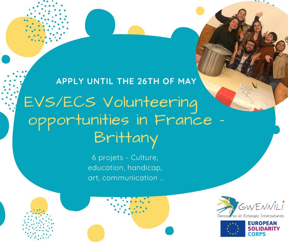 Candidatures ouvertes pour réaliser un volontariat européen en Finistère Sud